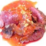 ビステッカ - <'15/02/07撮影>ハラミの炭火焼きと名物ラザニアのセット 1000円 のハラミの炭火焼き
