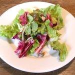 ビステッカ - <'15/02/07撮影>ハラミの炭火焼きと名物ラザニアのセット 1000円 のサラダ