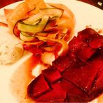 34897452 - 和牛赤身肉の厚切ローストビーフ!美味かった〜
