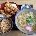 弁天 - 料理写真:チキン南蛮うどん定食