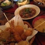 数奇屋 - 料理写真:串カツ定食