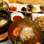 韓美膳 - 石焼ビビンバ+冷麺セット
