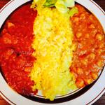ウミネコカレー - 料理写真:ポークとヒヨコ豆 2種盛り