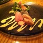34907400 - お刺身サラダ(ホタテ、ブリ)