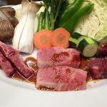 みょうが屋 - 神の肉  フランクはやばい。仙台牛のトルネードの1ヶ月熟成した旨味はすごい