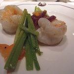 ヘイフンテラス - 車海老とセロリの炒め 腸詰めの香り