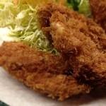 とんかつ 安右衛門 - 牡蠣フライ