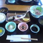 ふみ屋 - ¥1000(税込) 鯵の塩焼き魚定食