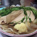 自家製麺キリンジ - 2015/1/21セリラーメン780円大盛ショウガ