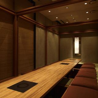 完全個室でプライベート空間!ゆったりと至福の時間を過ごせます