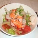 風靡 - 前菜の海老サラダ