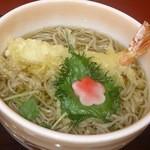 藤木庵 - 天ぷら蕎麦 1140円