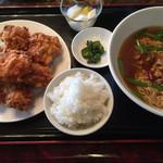 広盛園 - 唐揚げ定食(ご飯小)