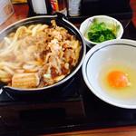 丸亀製麺 - すき焼きうどん 580円