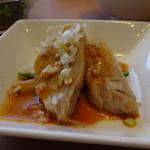 中国料理 梨杏 - 蒸し鶏のピリ辛胡麻ソース