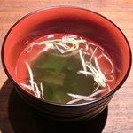 ベジピッグ - 4色サムギョプサルランチ 500円 のスープ