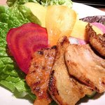 ベジピッグ - 4色サムギョプサルランチ 500円 の味噌、胡椒、カレー、コチュジャン
