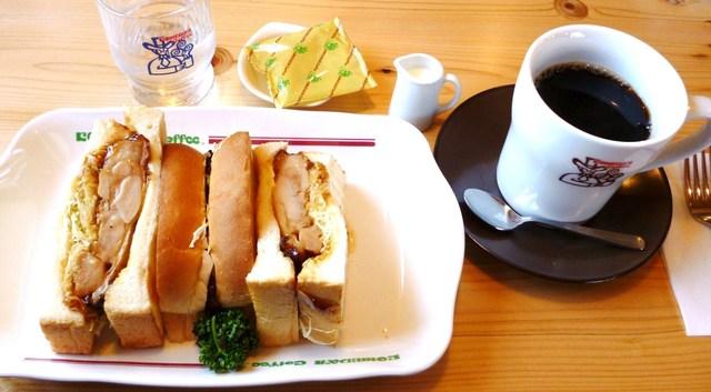 コメダ珈琲店 岸和田店 - カツサンドとブレンドコーヒー