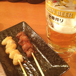 横浜石川町バル - ぼんじり/砂肝/生ビール