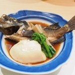 割烹 福源 - メバル煮付け 豆腐の代わりにフグ白子(時価)