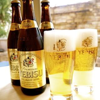フリードリンクのビールはエビスワインはオーガニック他30種類