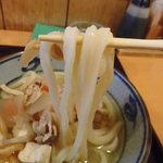 34949272 - 豚けんちんうどんの麺リフト