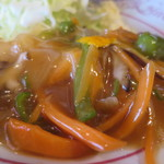 味平 - カレイ野菜あんかけアップ
