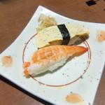 さかな市場 - 寿司:エビ(ボイル)、玉子