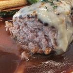 洋食屋 神戸デュシャン - スイス産ラクレットチーズを乗せた手ごねハンバーグステーキ
