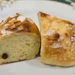 ビアン シュール - とうもろこしとチョコレートのパン(断面)