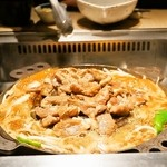 松尾ジンギスカン - 2014.11 お店推奨の焼き方