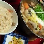 34958335 - けんちん鍋定食(プラス50円で五目御飯に)