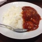 栄華楼 - 海老チリ掛けご飯