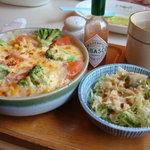 ぼんじゅーる - ツナとトマトのピラフドリア(934円)