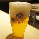 ○かつ亭 - ビール