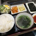 梅田明月館 - デラックス定食の肉以外