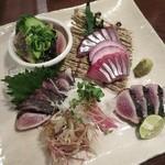 炭火焼 みや澤 - カツオ食べ比べ