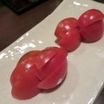 炭火焼 みや澤 - 岡崎農園のリサトマト
