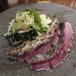 炭火焼 みや澤 - 藁焼き清水サバのタタキ