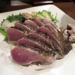 炭火焼 みや澤 - 藁焼き鰹のタタキ(塩)