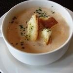 アブリ ラ フォレ桜亭 - トマトとコーンのスープ