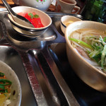 34968363 - ベトナム汁麺ランチ(フォー・ボー・ガン+煮豚ご飯)