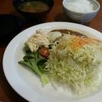 お多福食堂 - 料理写真:チーズのせカレーハンバーグ