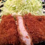 かつ金 - ロースかつ定食(1,080円)