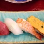 ばんどう太郎 - セットの寿司