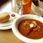 レストラン シラカバ - 2013年9月 ボルシチ【1000円】ピロシキ【350円】アイスティー【400円】