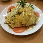飛竜 - サラダに卵焼きが載ってて面白い&美味しい