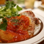cafe Hohokam - トマトガーリックバターチキンプレート(2015年2月のマンスリーメニュー)