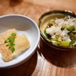 森川 - 前菜、タケノコと何か。