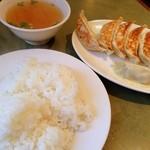 好麺 - 餃子とライス
